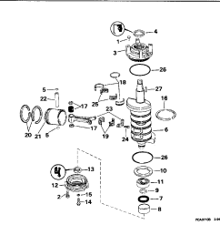 brp turbojet 1996 115 115tjedb 1996 crankshaft piston [ 1189 x 1024 Pixel ]