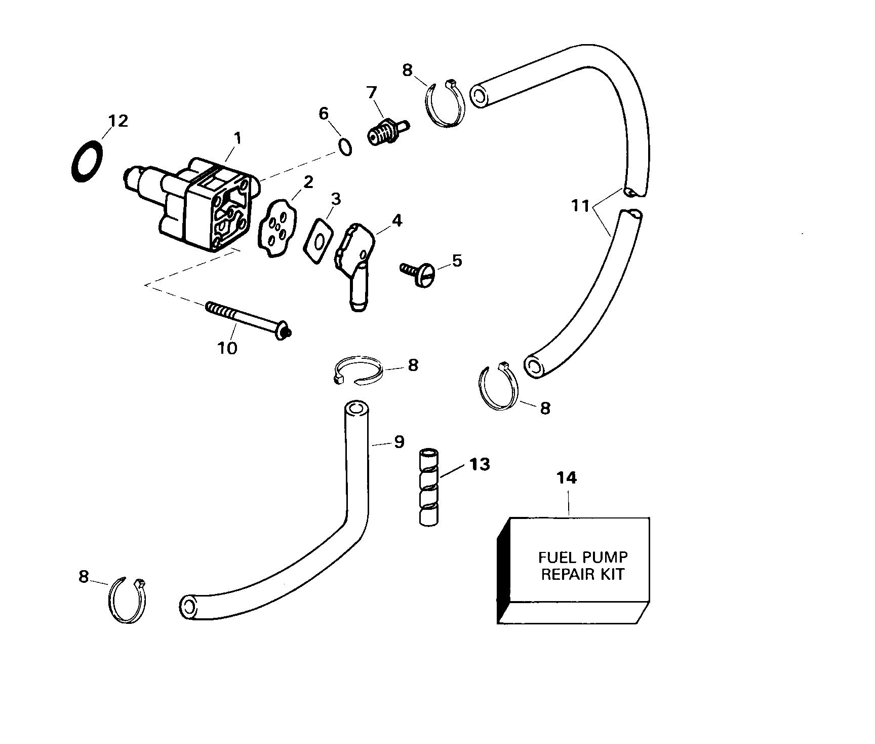 Diagram Of 1975 6r75r Johnson Outboard Fuel Pump Diagram And Parts