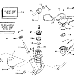 power trim tilt hydraulic assembly [ 1728 x 1456 Pixel ]
