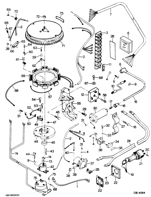 small resolution of mercury force 50 h p 1986 507f6a alternator and electrical components