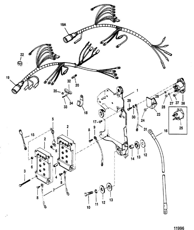medium resolution of mercury mariner v 175 0d082000 thru 0g303045 wiring harness starter solenoid