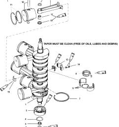 mercury race outboard 225x efi promax 0t430254 thru 0t819605 crankshaft pistons and connecting rods [ 1910 x 2420 Pixel ]