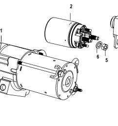 mercury mercruiser 350 mag mpi ski 0m317000 thru 0w689999 starter motor [ 1789 x 1048 Pixel ]