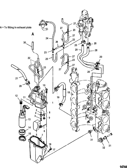 small resolution of mercury mercury 115 efi 4 stroke 0t178500 thru 0t800999 stroke fuel line diagram on yamaha 115 4 stroke fuel line diagram