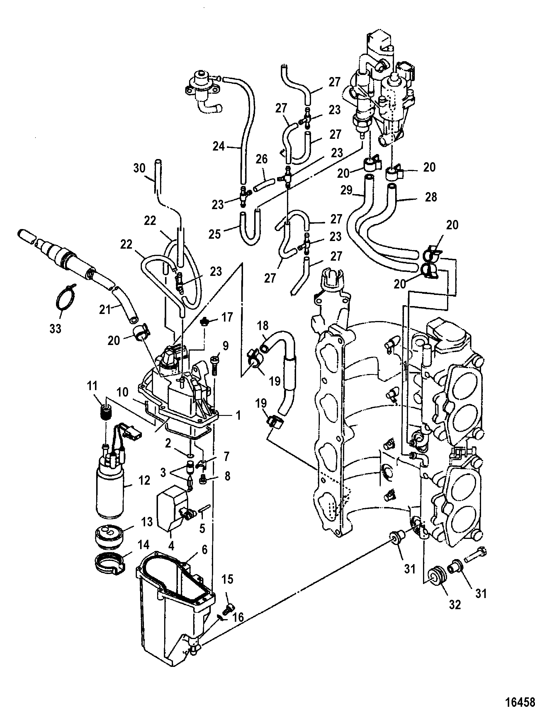 Yamaha 115 4 Stroke Fuel System Diagram