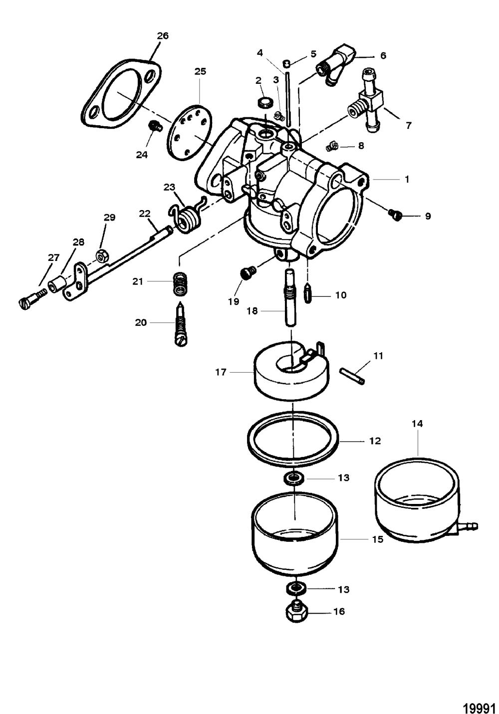 medium resolution of mercury force 90 h p 1997 0e203000 thru 0e287999 carburetor