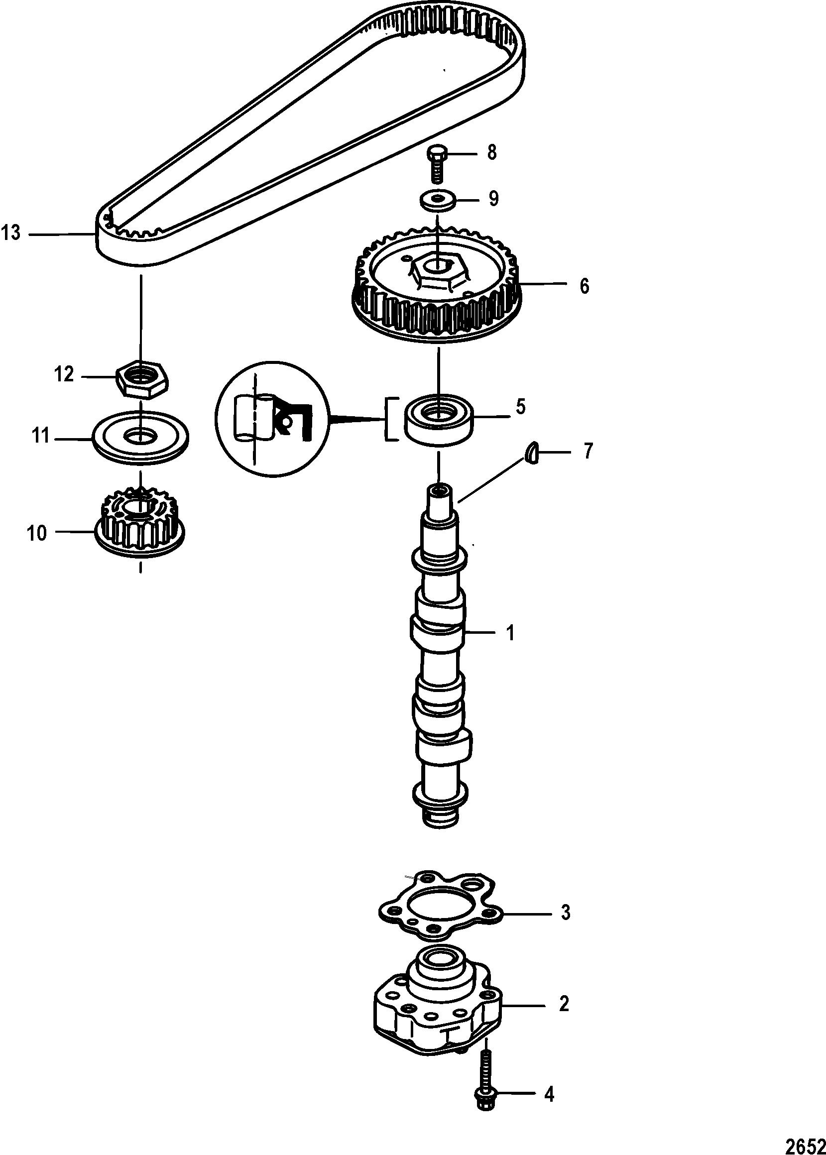 Mercury Mercury 9 9 4 Stroke 209cc 0p Amp Up Camshaft And Oil Pump