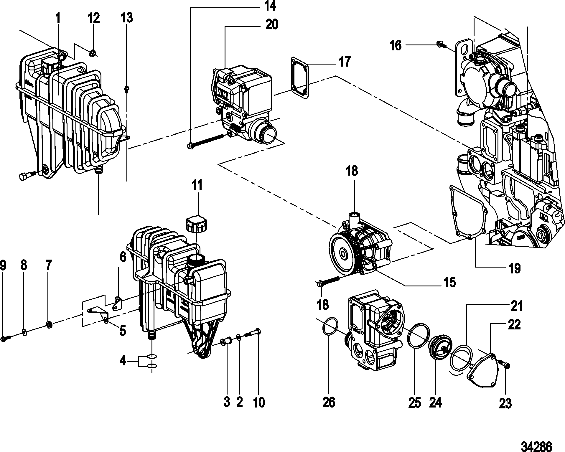 Mercruiser 190 Hp 4 Cylinder Engine Diagram Mercruiser