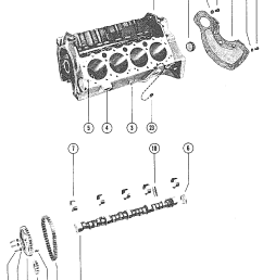 mercury mercruiser 228 mie 4 bbl gm 305 v 8 1979 1980 5170009 thru 5907057 cylinder block and camshaft [ 1912 x 2493 Pixel ]