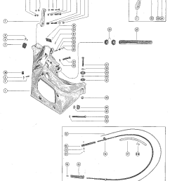 mercury mercruiser i 1963 1534570 thru 1684187 transom plate and shift cable [ 1089 x 1402 Pixel ]