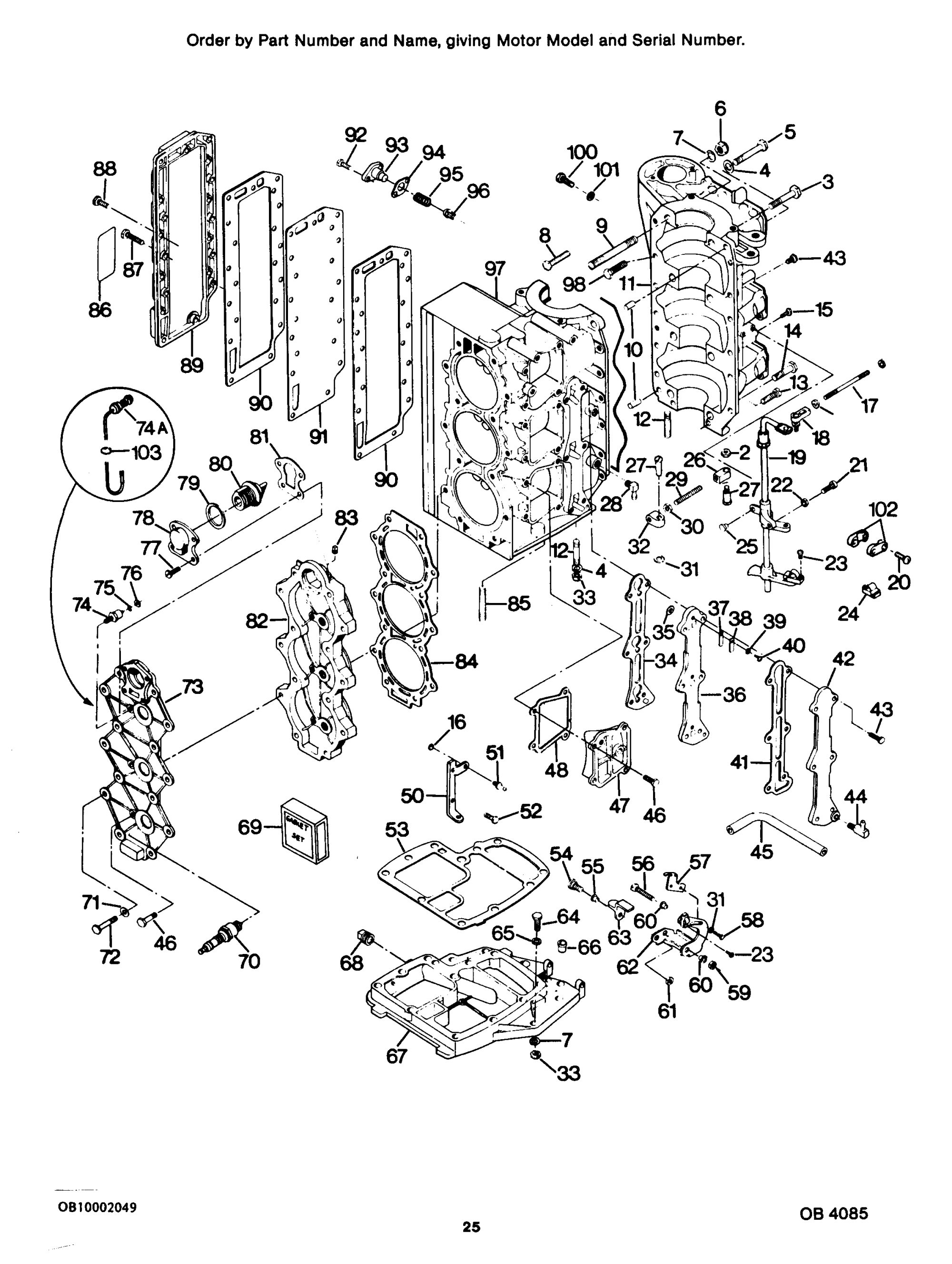 hight resolution of diagram of 85 hp 1986 force outboard 856x6l powerhead diagram and mercury force 85 h p