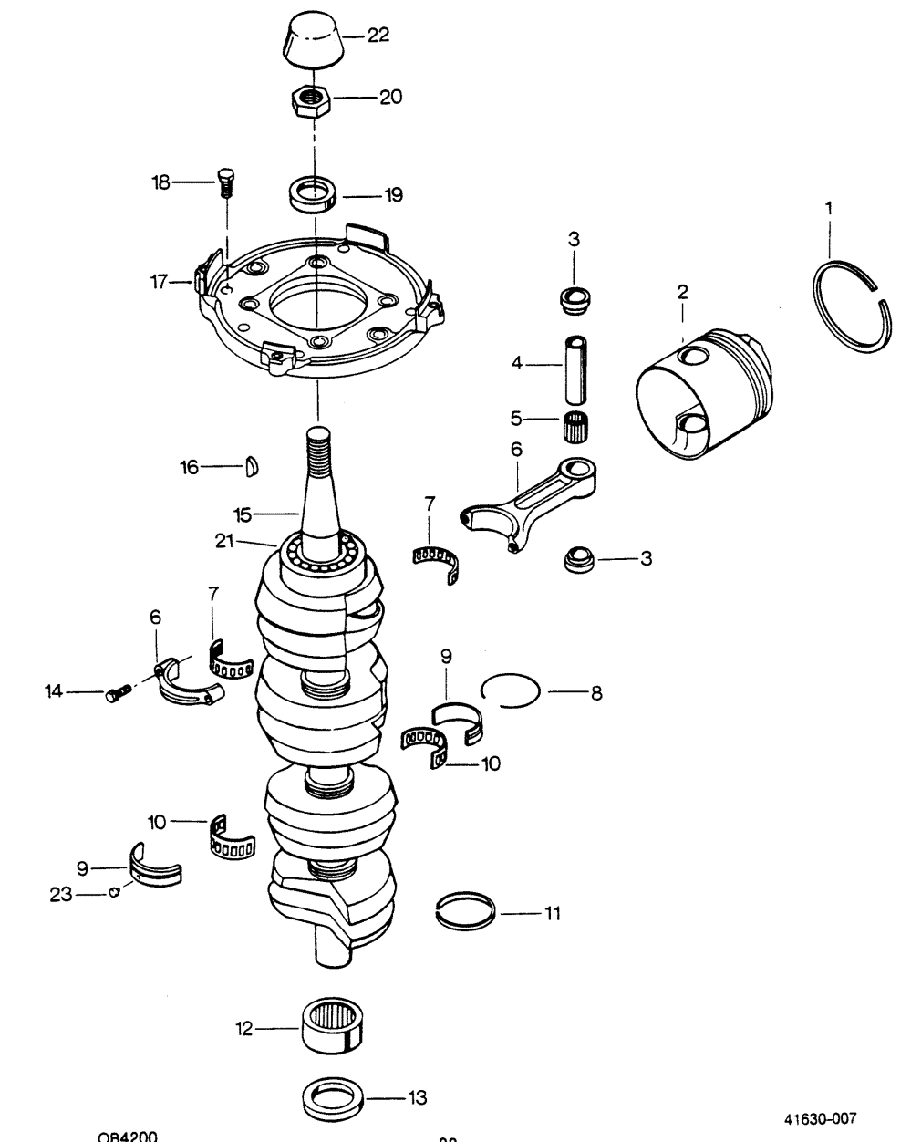 medium resolution of mercury force 125 h p 1988 1258m8c crankshaft 1971 mercury outboard wiring diagram 25 hp mercury outboard wiring diagram