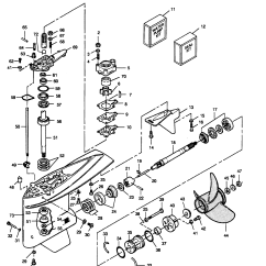 Mercury Outboard Parts Online Hpm Plug Wiring Diagram Force 125 H P 1989 L Drive 125ld9a Gear