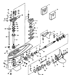 Outboard Motor Lower Unit Diagram 98 Ford Ranger Ignition Wiring Mercury Force 125 H P 1989 L Drive 125ld9b Gear