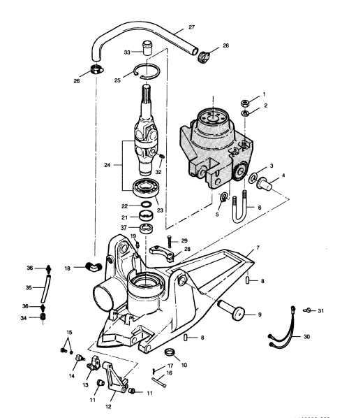 small resolution of mercury force 120 h p 1991 l drive 120ld91b u joint and housing