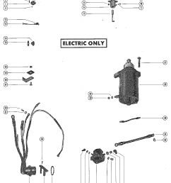 mercury mercury 402 3339688 thru 9076838 starter motor rectifier and wiring harness [ 1098 x 1393 Pixel ]