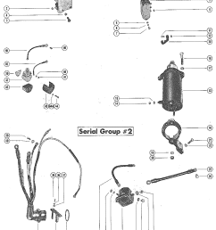 mercury mercury 850 4 cyl 7010108 thru 7071372 starter motor and wiring harness serial group 2  [ 2115 x 2745 Pixel ]