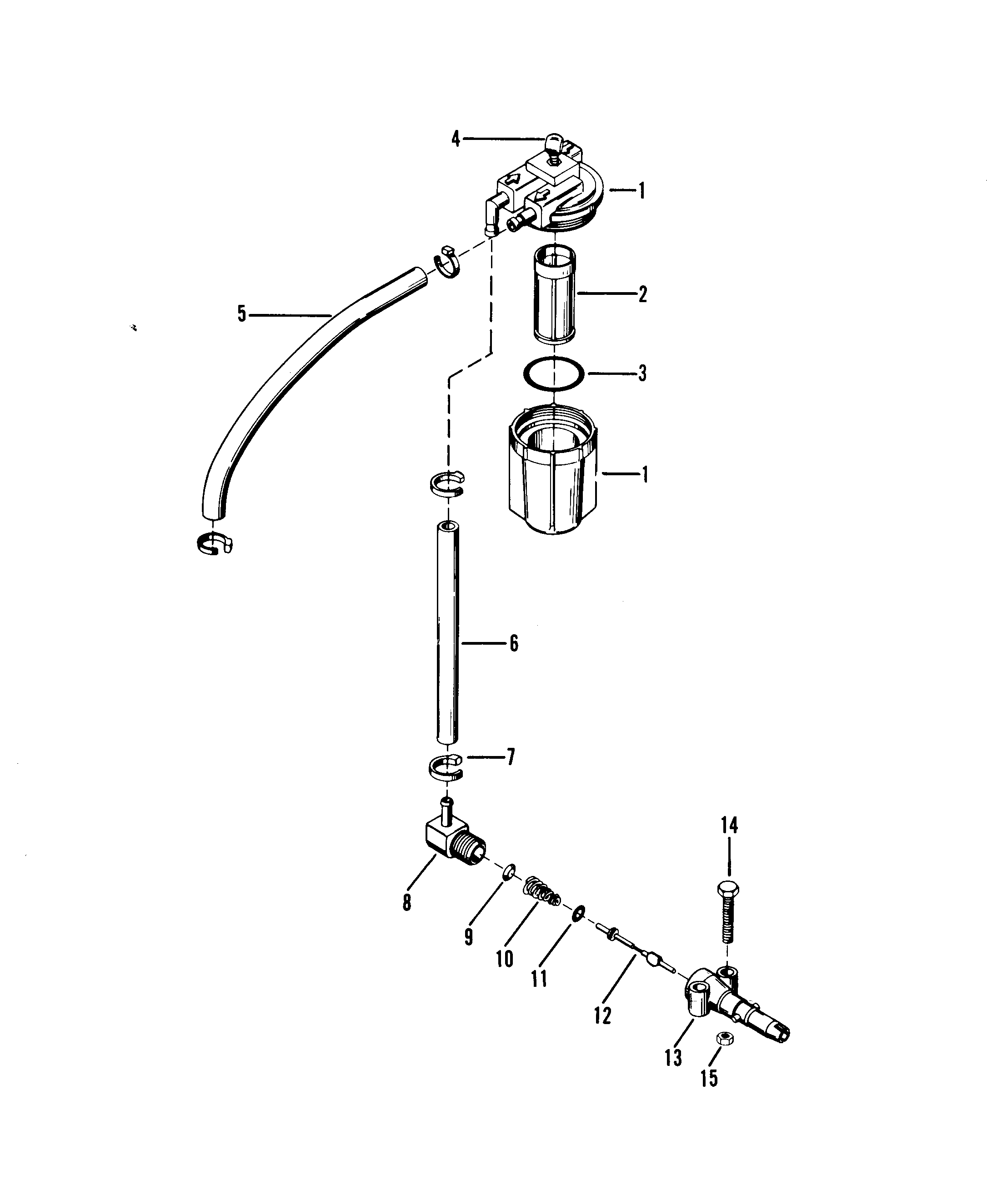 Mercury Fuel Filter Assembly