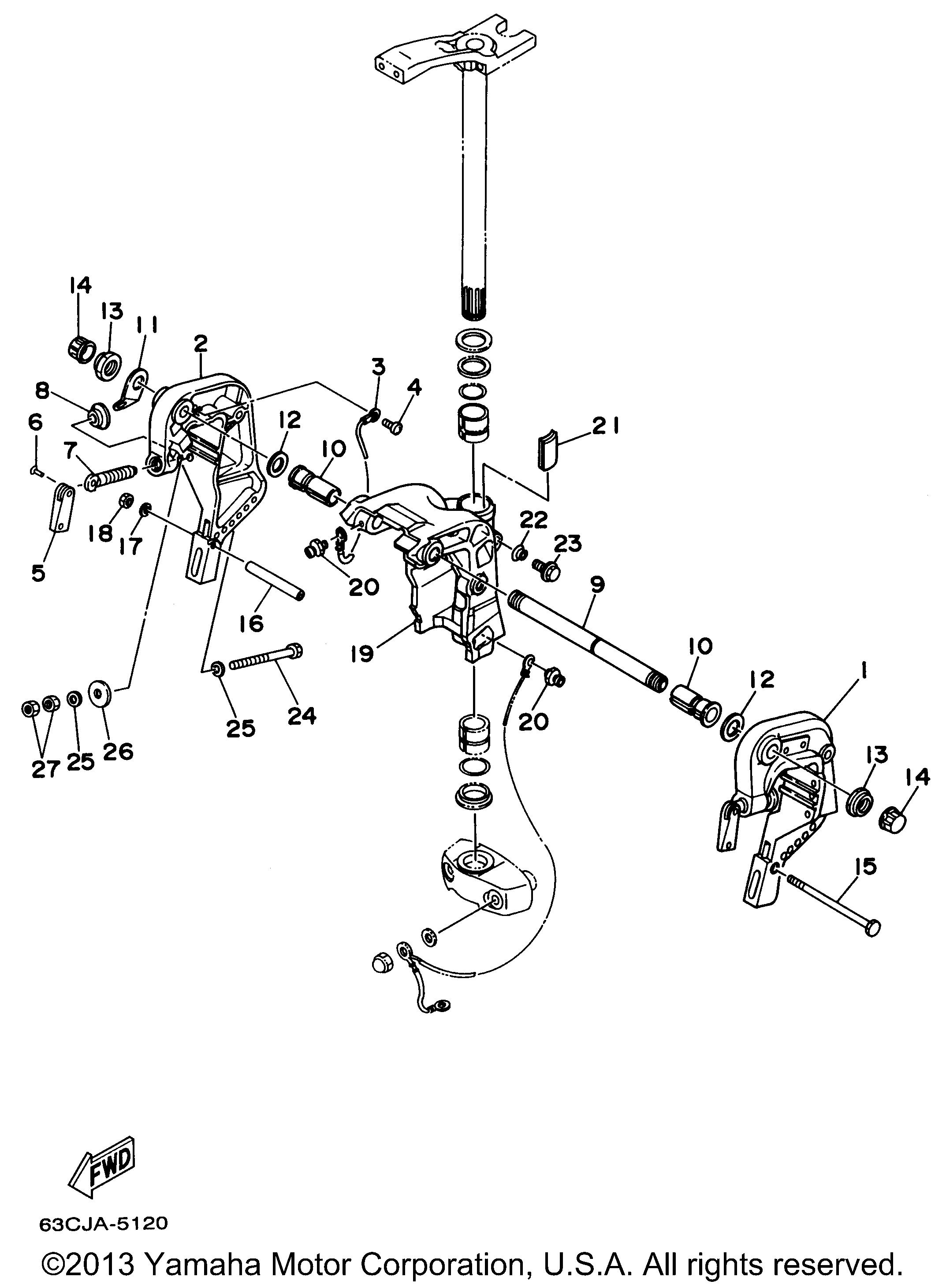 yamaha outboard motor parts diagram association in class example 40 hp 40tlrx bracket 2 manual tilt