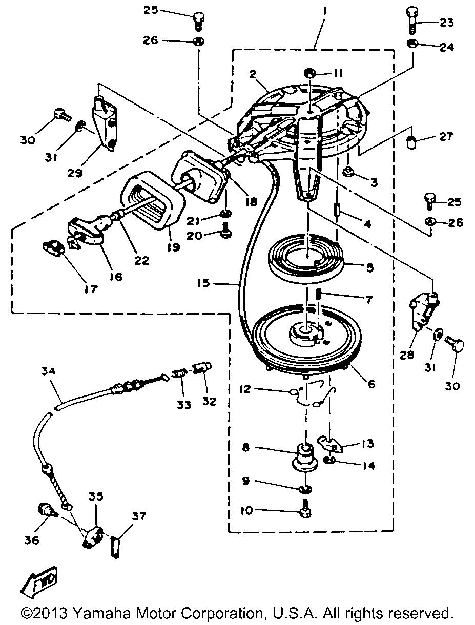 yamaha outboard motor parts diagram pole 4 passion 9 hp 9mshr manual starter