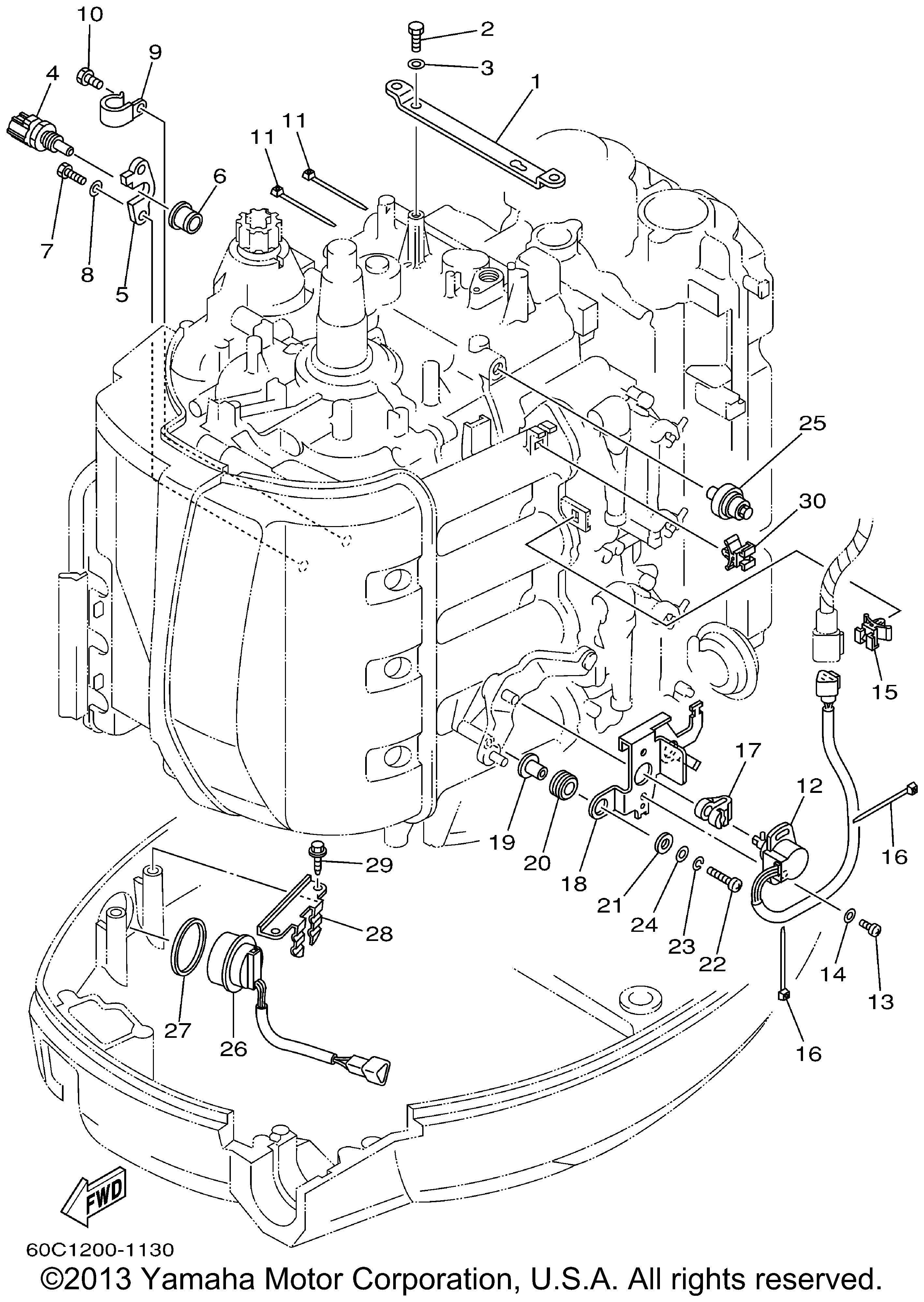 Yamaha F80 Outboard Wiring Diagram