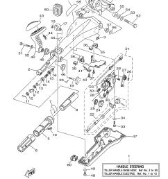 yamaha outboard rigging parts 0405 tiller handle base assembly [ 3307 x 4707 Pixel ]