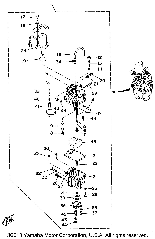 Yamaha Outboard 9 9 Hp T9 9elrv Carburetor