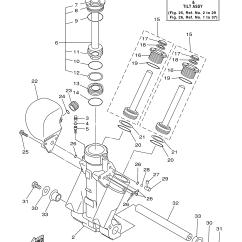 Yamaha Outboard Motor Parts Diagram Lower Back Exercises 150 Hp Z150txry Power Trim Tilt Assembly 1