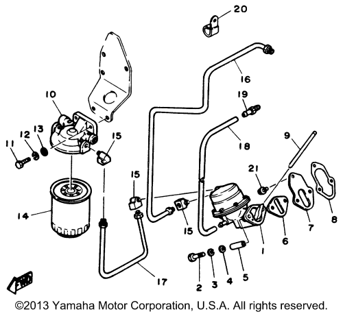 small resolution of yamaha outboard yamaha sterndrive engine v6 4 3 yems fuel pump fuel filter