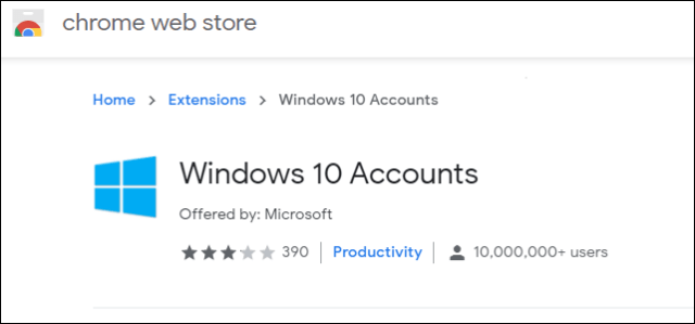 Chrome We b St  Windows 10 Accounts