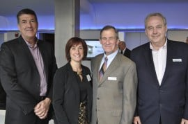 David Binkely and Lynanne Kunkle of Whirlpool, with Rich McGourty and Mike Tobin of Vantage