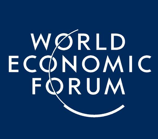 World Economic Forum logo - white text on a navy background