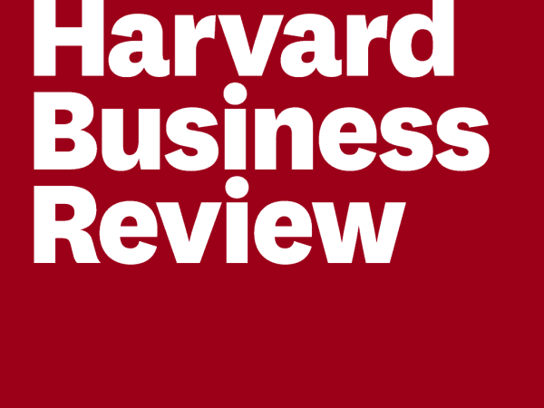 Harvard Business Review logo - white text on a crimson background