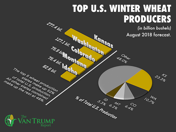 Top 5 U.S. Winter Wheat Producing States