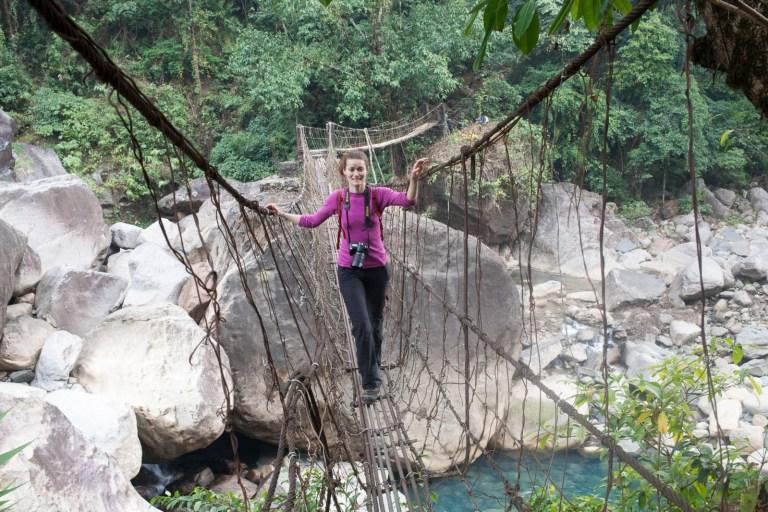 Ivanka má strach na visutém mostě