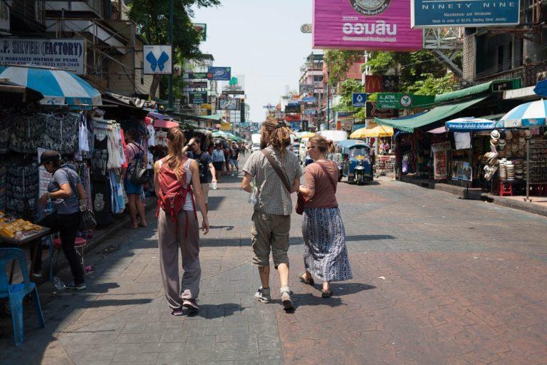 Karina s Harijsem v Bangkoku