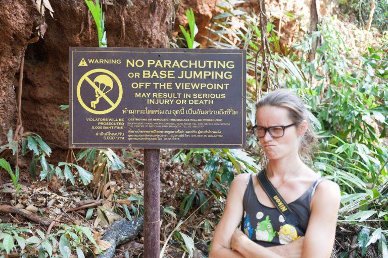 Zákaz paraglidingu v laguně