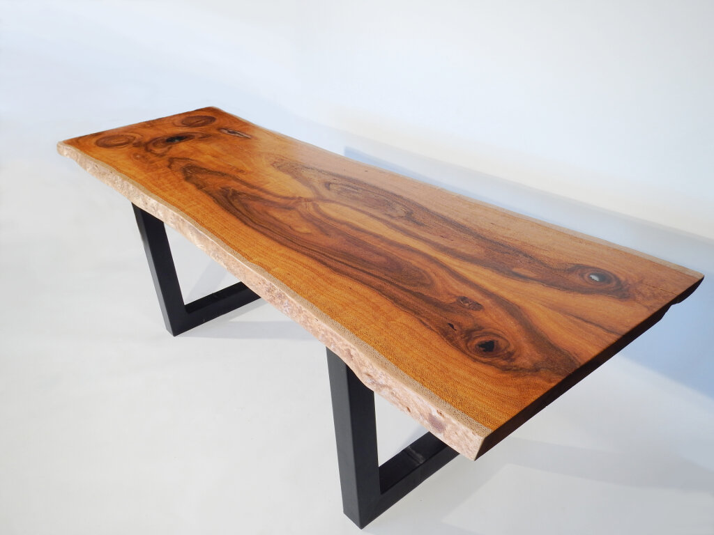 oak kitchen table furniture pantry live edge silk dining