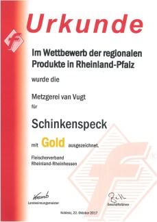 Schinkenspeck 2017 gold
