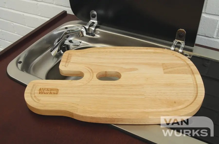 dometic smev 9222 chopping board sink on left