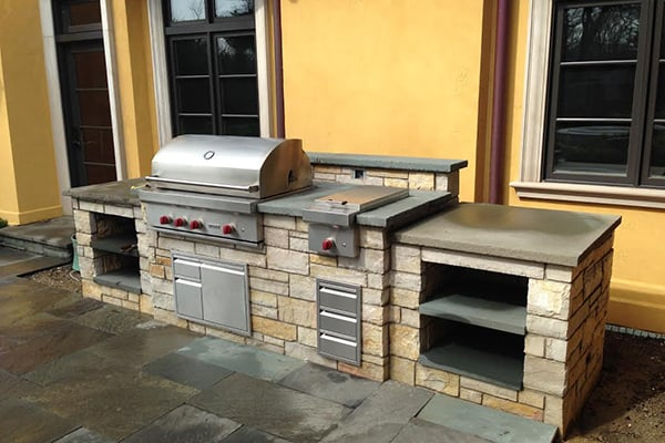 drop in grills for outdoor kitchens how to reface kitchen cabinets built grill designers installers chicago one of van zelst s glenview illinois