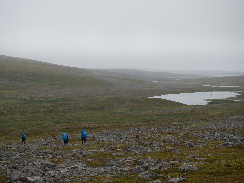 Vaellusta sumussa Finnmarkissa