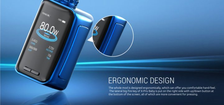 Smok X-Priv Baby Kit 80W X-Priv Mod with 6ml TFV12 Big Baby Tank-Prism Blue