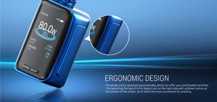 Smok X-Priv Baby Kit 80W X-Priv Mod with 6ml TFV12 Big Baby Tank-Prism Blue