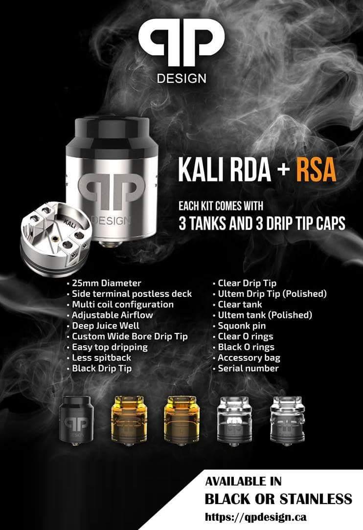 Facebook qp design Kali RDA giveaway