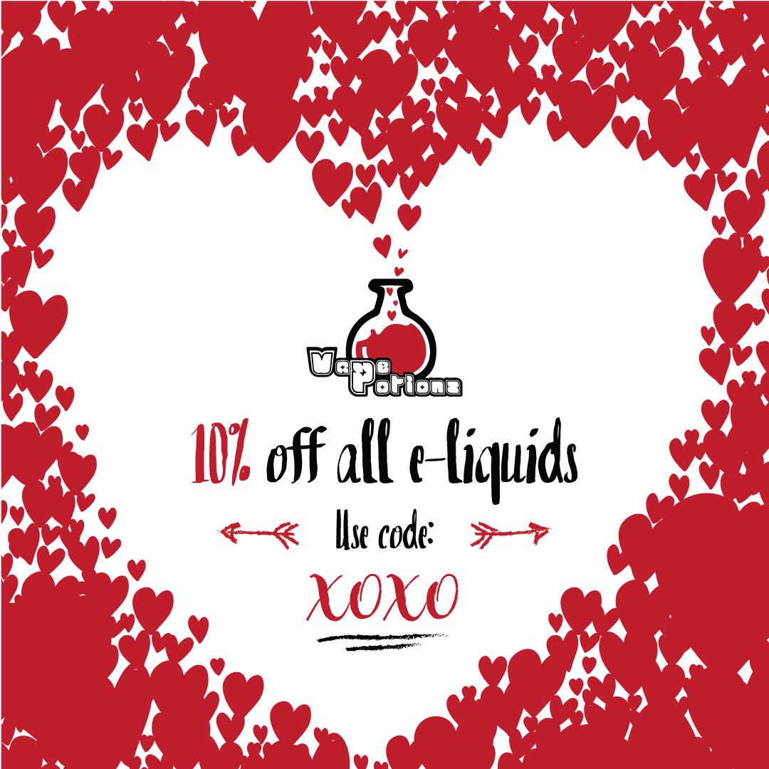 10% off all e-liquids at Vape Potions