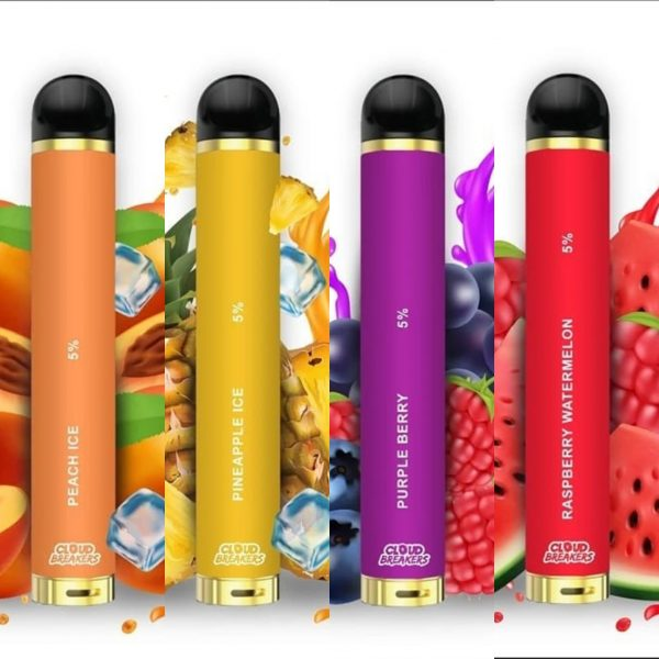 NEW CLOUD BREAKERS TWIST DISPOSABLE 5% ALL FLAVORS 1500 PUFFS