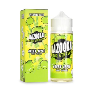 Bazooka Sour Straws Green Apple e juice