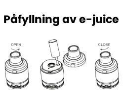 Vaporesso påfyllning e-juice