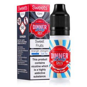 Sweet Fruits 10ml Nicotine Salt Eliquid By Dinner Lady